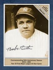 "#17 Babe Ruth, Yankees Giantsize/4.5""x 6"" 1933 Conlon All-Stars (1983 Marketcom)"