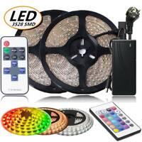 1-10M LED Streifen Licht 3528 SMD RGB Stripe Band Leiste Superhell + Netzteil