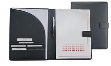 Schreibmappe A4 mit Lasche Copana-Rindnappaleder schwarz excl. Marke EuroStyle
