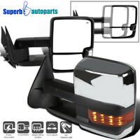 For 88-98 Chevy GMC C10 C/K Power Heated LED Signal Towing Side Mirrors Pair