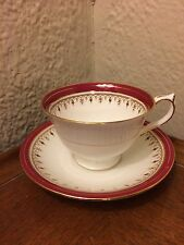 Aynsley England Fine Bone China Durham Teacup and Saucer gold detail
