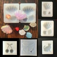 Silicone Crystal Jewelry Mold Necklace Pendant Resin Casing DIY Mould Cra D N5Q3