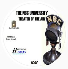 NBC UNIVERSITY THEATER - 108 Shows Old Time Radio In MP3 Format OTR On 1 DVD