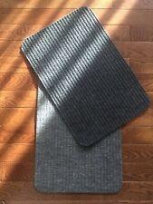 """X4 Home Collection Mats $3.99ea Reversible Rugs Floor Door Grey Gray 16x24"""" U.S."""
