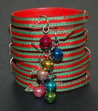 Red, Green & Gold Christmas Cat Safety Collars - 30cm