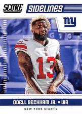 Two card lot 2018 Score Football Odell Beckham Jr. Sidelines New York Giants #13