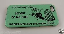 """for Iphone 5 phone case Monopoly """" get out of Jail free """" community chest cover"""