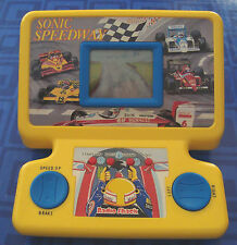 SONIC SPEEDWAY Indy Electronic Handheld RACING Game Table Top Radio Shack