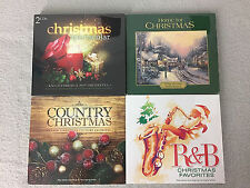 Christmas Music CD Lot of 4 Country R&B Instrumental Orchestra