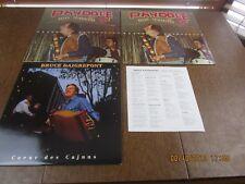 LOUISIANA CAJUN MUSIC  3 LP LOT   FIDDLE  ACCORDIAN   2 SEALED  N.MINT   G1345