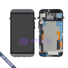 For HTC One M8 LCD Display Touch Screen Digitizer Replacement + Frame Black US