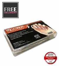 Millennium Professional Nail Tips - 400 Box - Includes Sizes 1-10 - OVERLAP