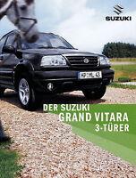 Suzuki Grand Vitara 3 Türer Prospekt 2004 9/04 brochure prospectus brosjyre Auto