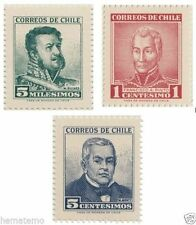 Chile 1960 #622-4-5 Presidentes MNH
