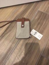 NWT Beige Brown Wristlet Wallet