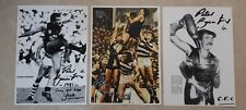 CARLTON PREMIERSHIP PLAYER PETER BOSUSTOW HAND SIGNED PRINTS 12 X 8 X 3 PRINTS