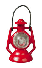 Red Kerosene Lamp / Lantern, Dolls House Miniature