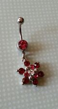 flower/snowflake belly button ring