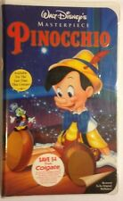 Walt Disney's Pinocchio VHS Masterpiece Collection 1993 Sealed Disney Home Video