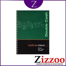 COLLINS IDEAL DOUBLE CASH BOOK A5 – SPIRAL VERSION - BOOK KEEPING - 120 PAGES