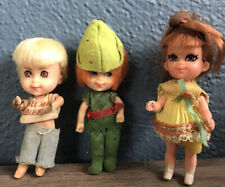 1965/1967 Mattel Inc. Little Kiddles Lot Of 3 Peter Pan