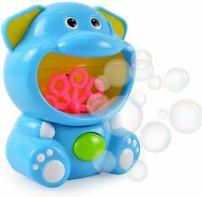 Happy Bubble Maker Cute Elephant Automatic Electric Bubblemals Machine