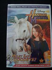 Disney's HANNAH MONTANA - MILEY SAYS GOODBYE? rare Family dvd FACTORY SEALED NEW