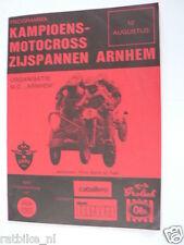 1979 NK SIDECAR CROSS ARNHEM 12-8,MX ZIJSPANNEN PROGRAMMA BIJL,LAAN,PJ52