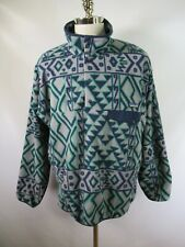 E5156 PATAGONIA SYNCHILLA Snap-T Colorful Pullover Fleece Jacket Size L