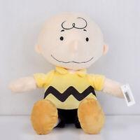 "Charlie Brown Peanuts Kohls Cares Plush Stuffed Toy Peanuts Yellow Shirt 13"" new"