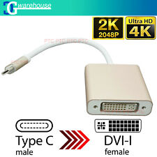 USB C 3.1 Type-C to DVI Adapter 4K/ 2K Video Converter Cable for MacBook Laptop