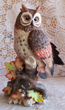 Fitz and Floyd Owl Exotic Bird Collection Porcelain 2007 Retired - Very Rare New