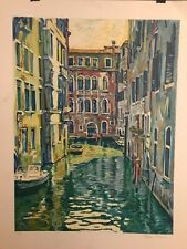 """""""Venice"""" ~ Eugene Kaspin ~ Signed and numbered serigraph ~ 63/300"""