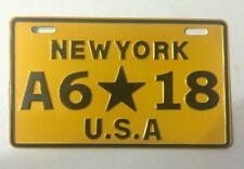 NewYork Racing Motorcycle License Plate #6-18