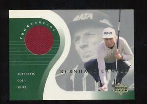 2001 Upper Deck  Bernard Langer Golf Shirt---Tour Threads---SP--Jersey