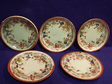 """5 EARLY 1900'S JAPAN GEISHA GIRL PORCELAIN 4"""" TRINKET DISHES AND BOWLS"""