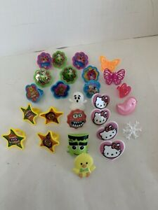 cupcake rings party favor cake topper Shopkins Hello Kitty And More Lot