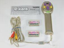 Takara Hasbro e-Kara Karaoke Machine Microphone Mic Vol 8 9 Song Cartridges