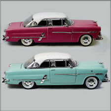 TWO WELLY 1953 FORD VICTORIA 1/24 DIECAST MODEL CAR UN-BOXED, MAROON & TEAL