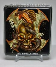 """Fujima Double Sided PU Leather """"100 Deviations"""" King Size Cigarette Case"""