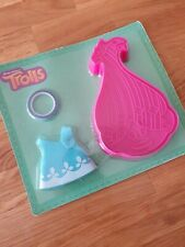 Trolls Baking Cake Cookie Biscuit Cutter decorating Mold Mould Set & Accesories