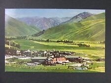 Sun Valley Idaho ID Penny Mountain Aerial View Vintage Postcard 1950s