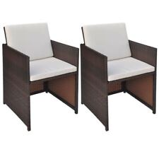 vidaXL Esszimmerstühle 2 Stk. braun 52×56×85 Cm Poly Rattan
