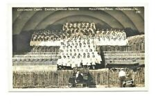 Vintage Postcard California Childrens Easter Sunrise Service Hollywood Bowl Rppc