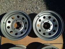 """PAIR OF 15""""X6"""" TRAILER WHEEL  6 LUG ON 5.5 INCHES - GRAY"""