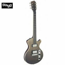Stagg Silveray Series Flamed Maple Top Electric Guitar Special Deluxe - Black