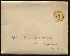 Canada 1 Cent Small Queen tied by Ap 12th 1897 CDS on local Buckingham QC cover
