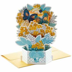 Hallmark Anniversary Card ~ Paper Wonder MUSICAL Light Up & Pop Up ~ Butterflies