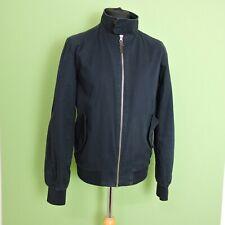 Primark Mens Bomber Jacket Size Medium Navy Blue Cotton