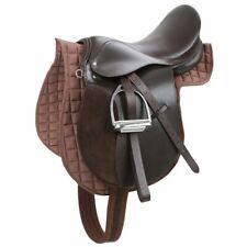 Kerbl Haflinger Set Sella Cavallo equitazione inglese Pelle Marrone 32198
